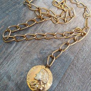 Vintage Roman Coin Chain Belt